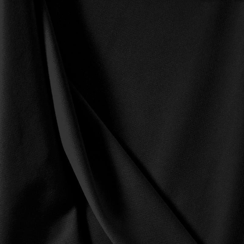 CDC / BLACK 1115 / 100% Polyester Crepe Du Chine P/D