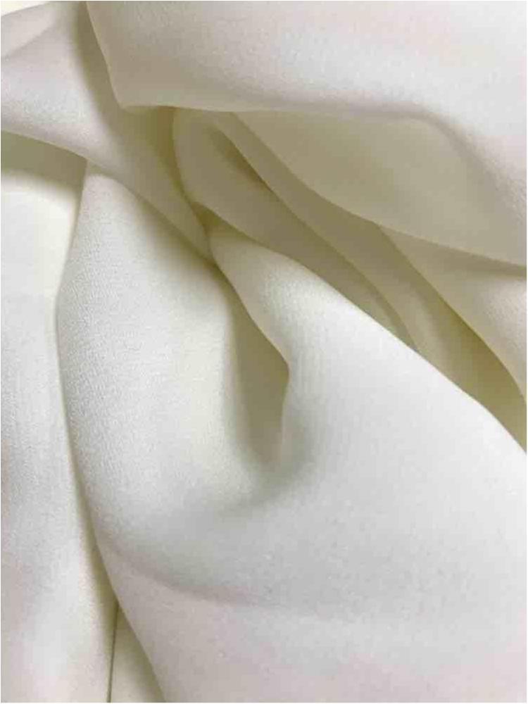 WOOL DOBBY / IVORY 1113 / 100% Polyester Wool Dobby