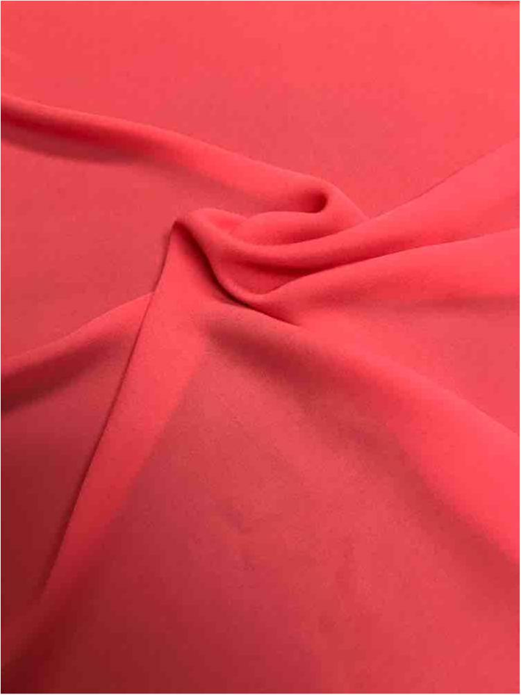 WOOL DOBBY / CORAL 1208 / 100% Polyester Wool Dobby