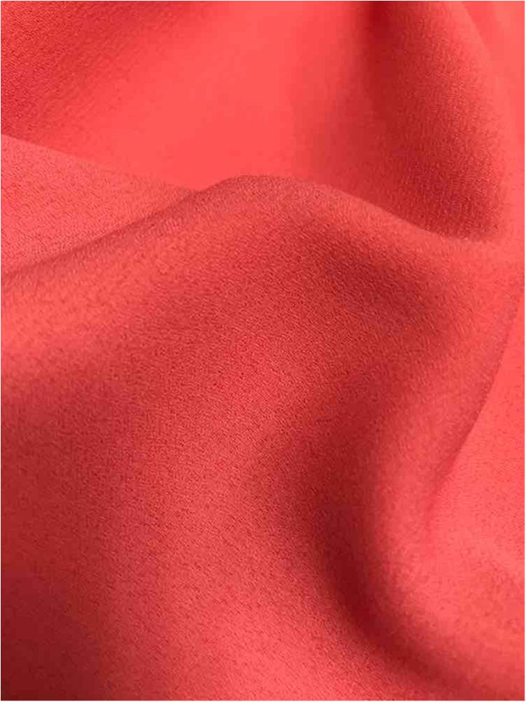 WOOL DOBBY / CORAL/L 1203 / 100% Polyester Wool Dobby