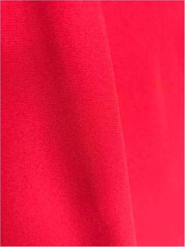 WOOL DOBBY / RED 1192 / 100% Polyester Wool Dobby