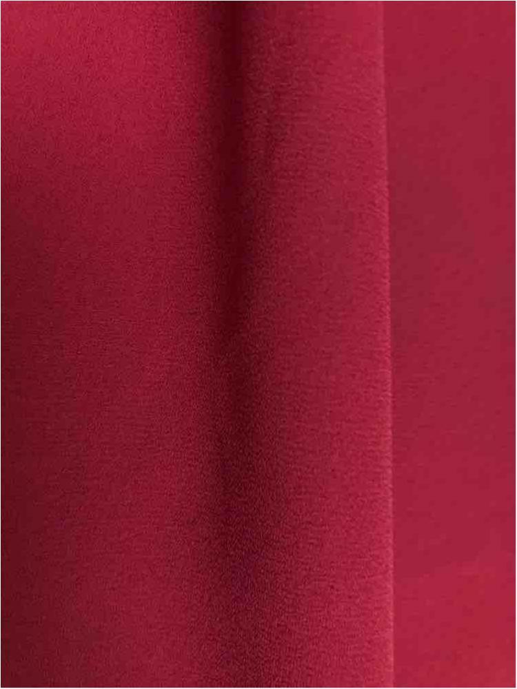 WOOL DOBBY / BURGUNDY 1232 / 100% Polyester Wool Dobby