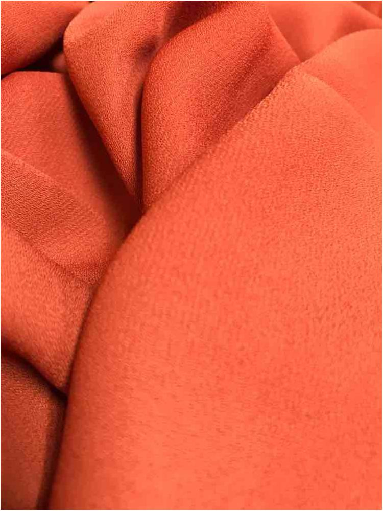 WOOL DOBBY / RUST 1328 / 100% Polyester Wool Dobby