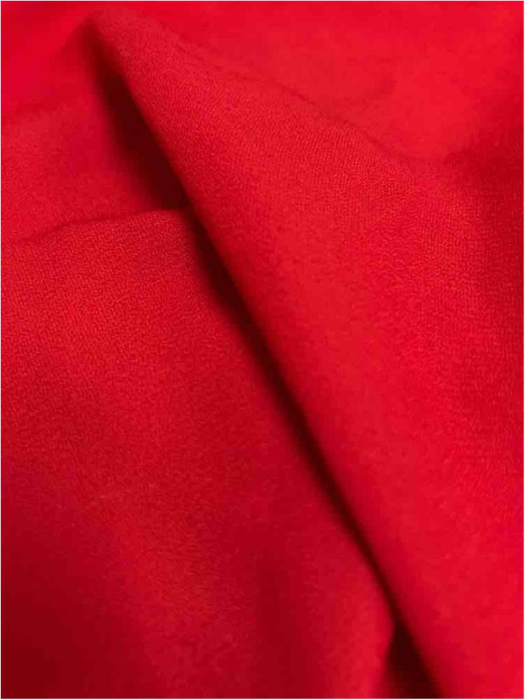 WOOL DOBBY / RED 1190 / 100% Polyester Wool Dobby