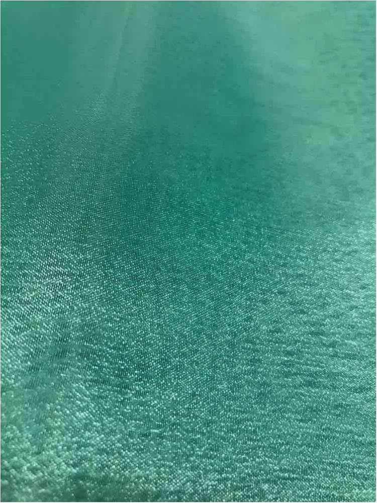 101 CRYSTAL / TEAL/M 722 / 100% Polyester Crystal Organdy