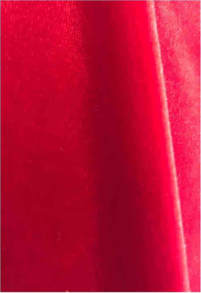SSV360 / RED 190 / 92%POLYESTER 8%SPANDEX STRETCH VELVET 360 GR