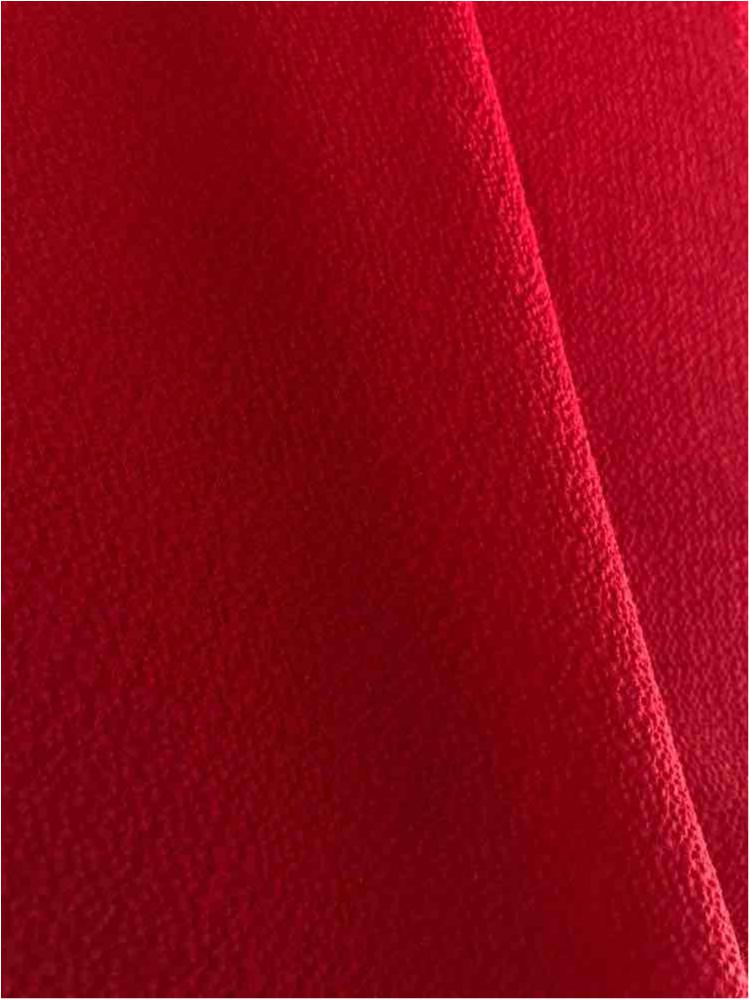 BUBBLE CREPE / RED 1192 / 100% Polyester Bubble Crepe