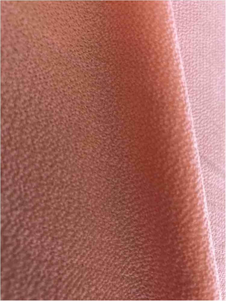 BUBBLE CREPE / PEACH 4122 / 100% Polyester Bubble Crepe