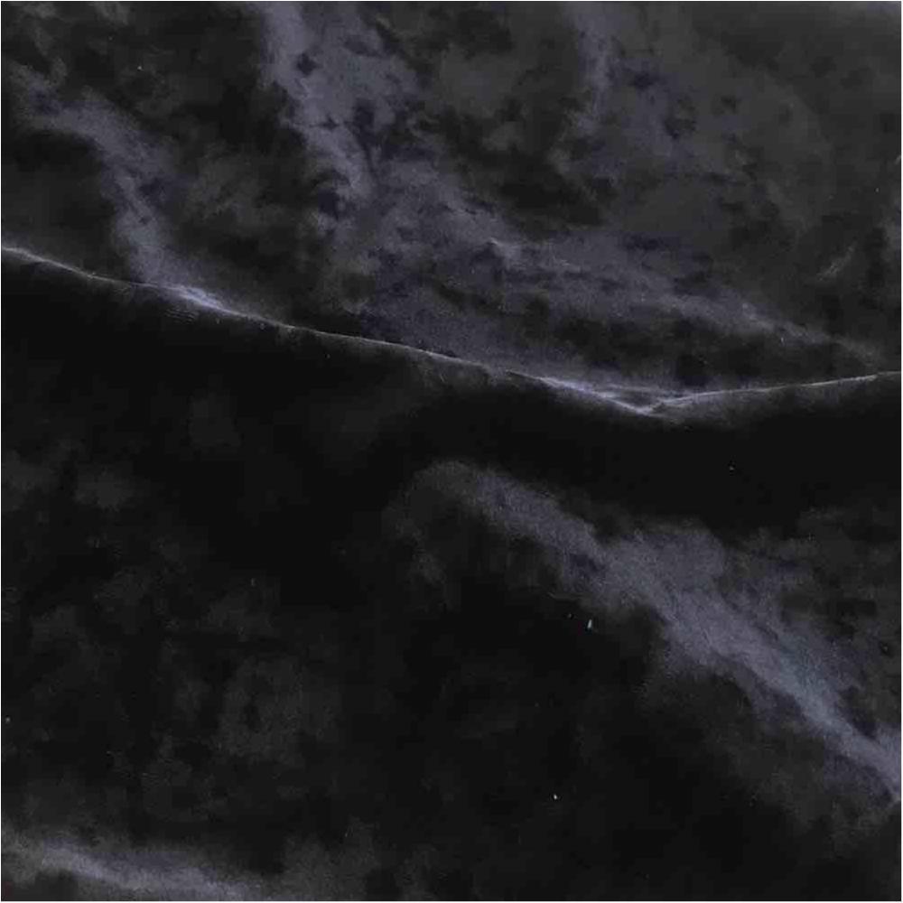 ICE VELVET / BLACK 115 / 92% Polyester 8% Spandex Velvet