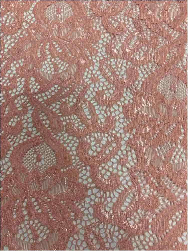 N/S LACE / BLUSH / 90% NYLON 10% SPANDEX LACE W/ SCALLOPED