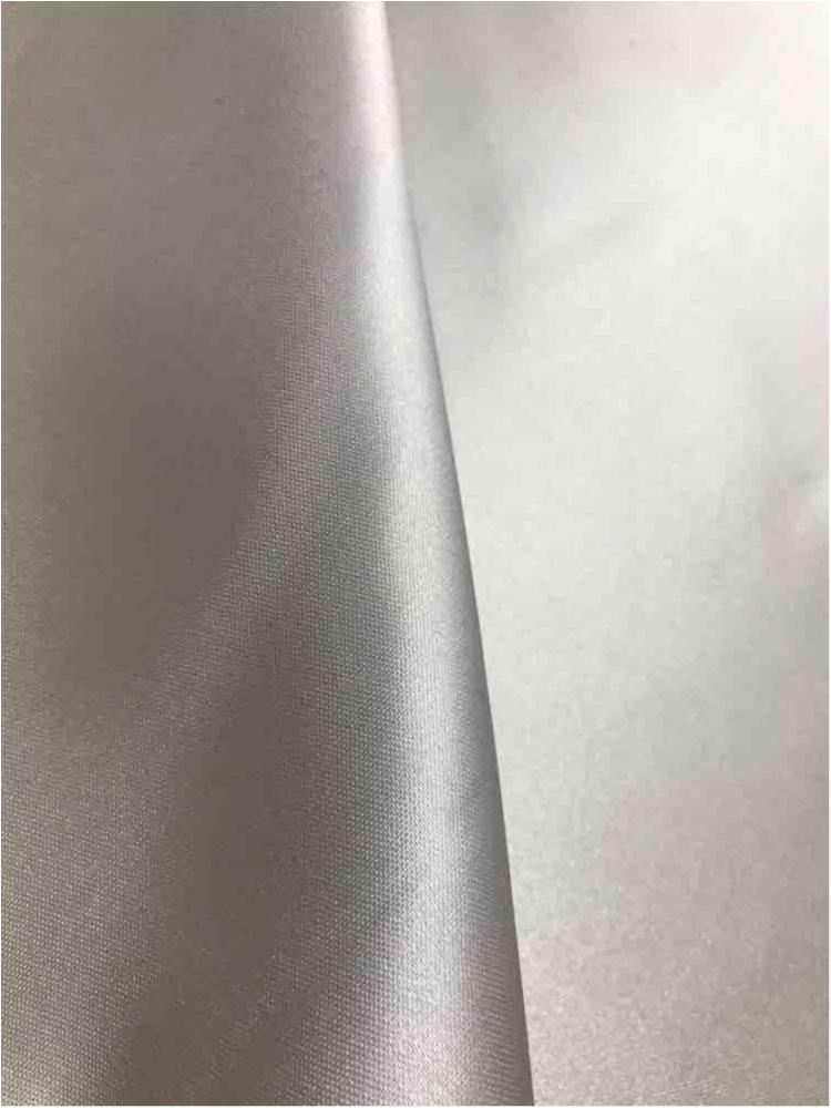 SATIN/POLY 3145 / SILVER 024 / 100% Polyester Bridal Satin