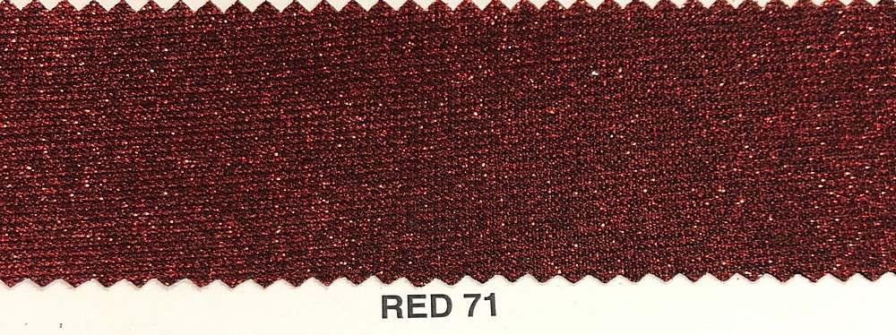 LUREX BONDING / RED 71 / 100% POLYESTER LUREX GLITTER BONDING