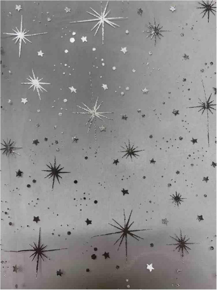ORGANDY FOIL / WHITE / 100% Poly Organdy Foil Star