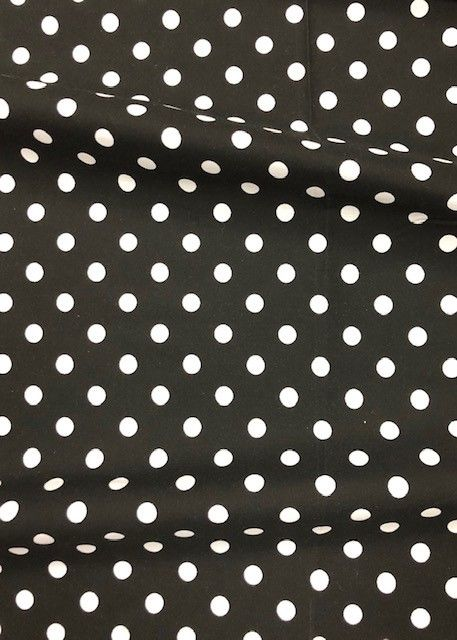 DOT T/C / BLACK/WHITE / 80% Poly & 20% Cotton Dot