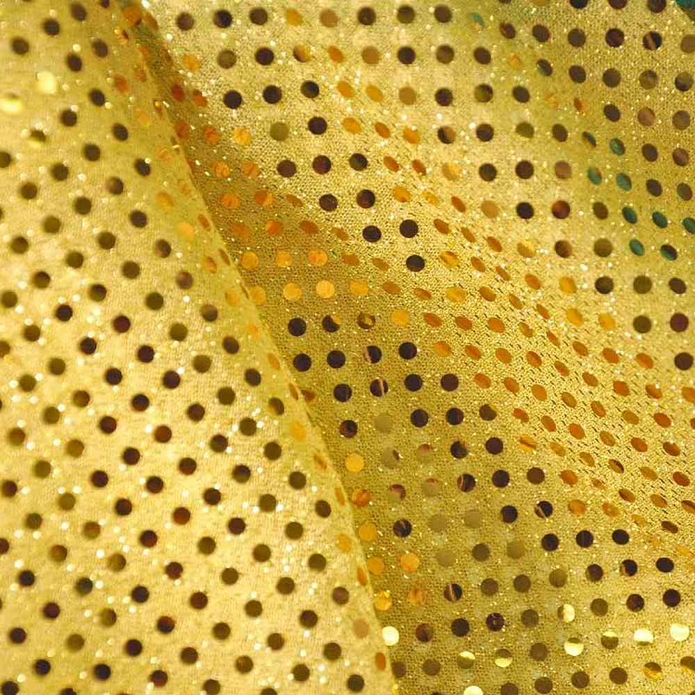 SEQUINS 2000 / YELLOW / American Knit With 3mm Trans [75% NYLON 25%POLY]