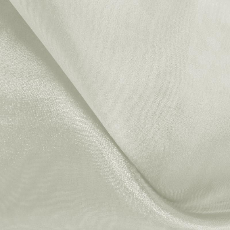101 CRYSTAL / IVORY/D 605 / 100% Polyester Crystal Organdy