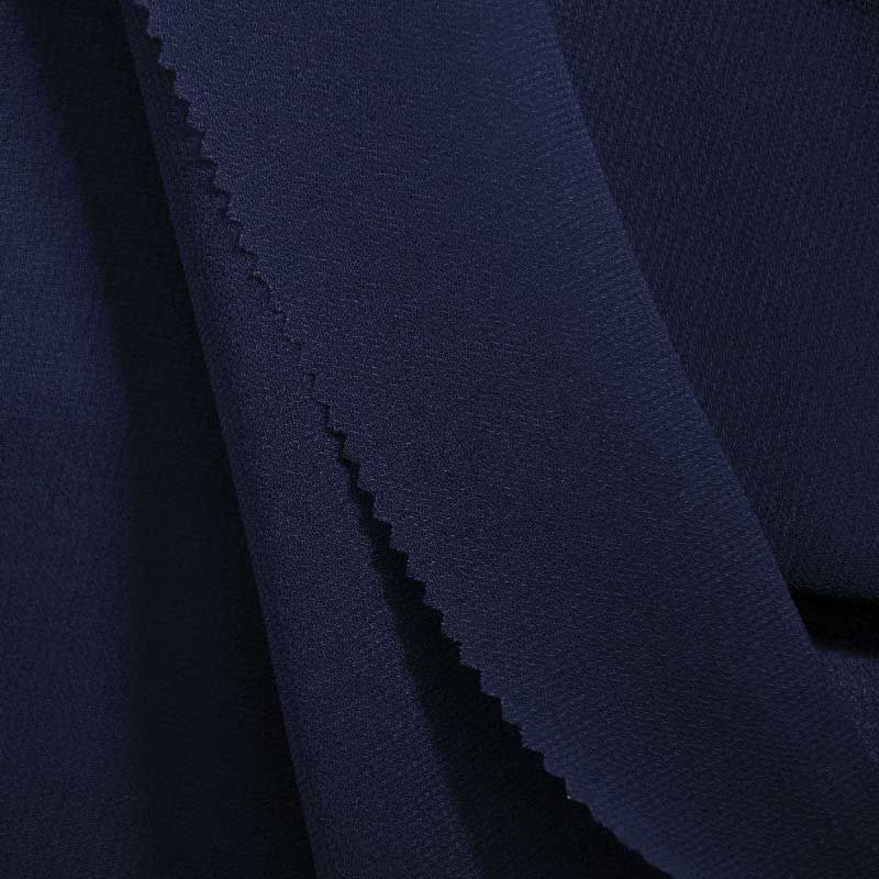 PEBBLE 200 / NAVY 245 / 100% Polyester Pebble Georgette