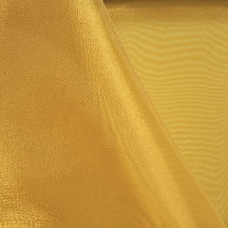 101 CRYSTAL / GOLD 901 / 100% Polyester Crystal Organdy