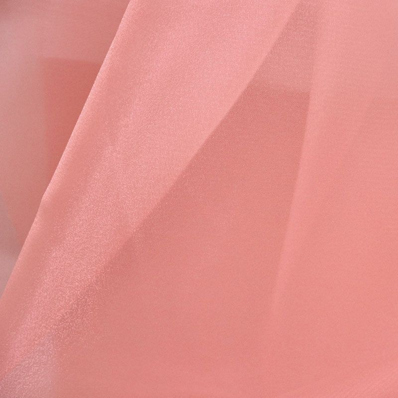 101 CRYSTAL / CORAL/L 499 / 100% Polyester Crystal Organdy