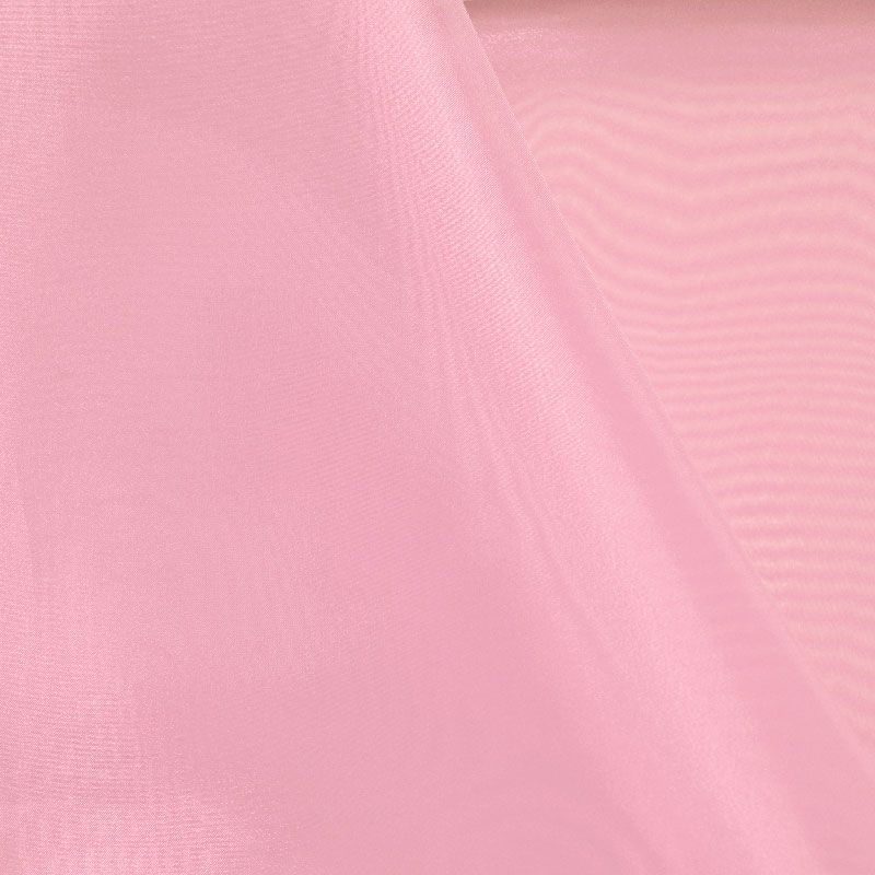 101 CRYSTAL / PINK 509 / 100% Polyester Crystal Organdy
