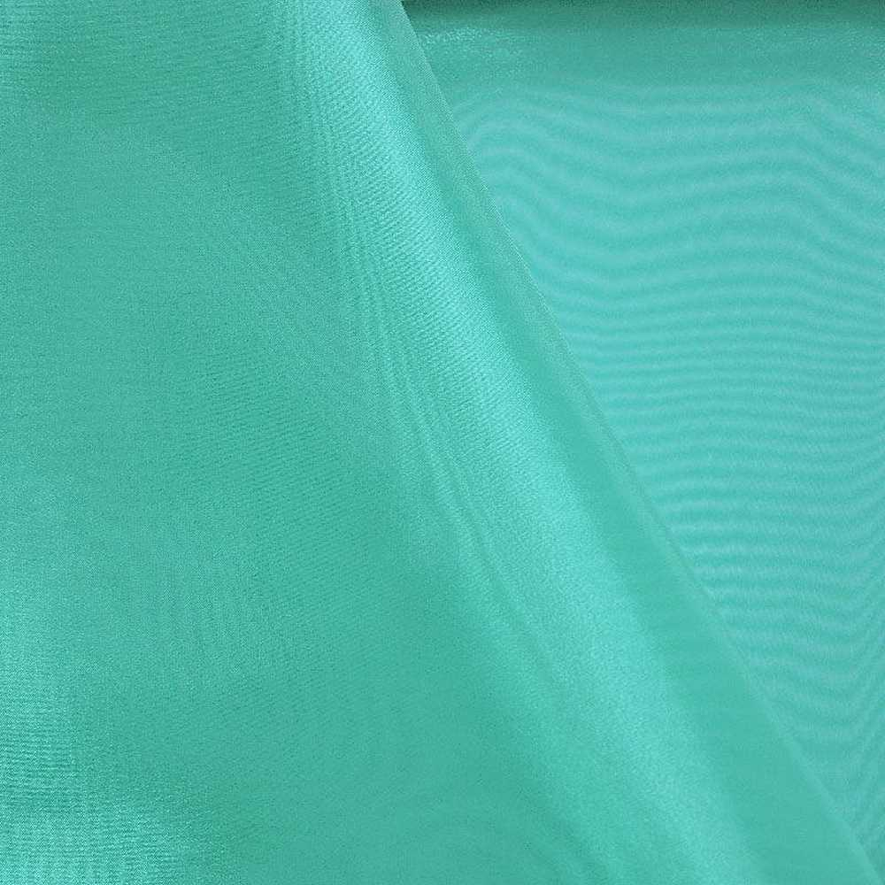 101 CRYSTAL / TURQUOISE 775 / 100% Polyester Crystal Organdy