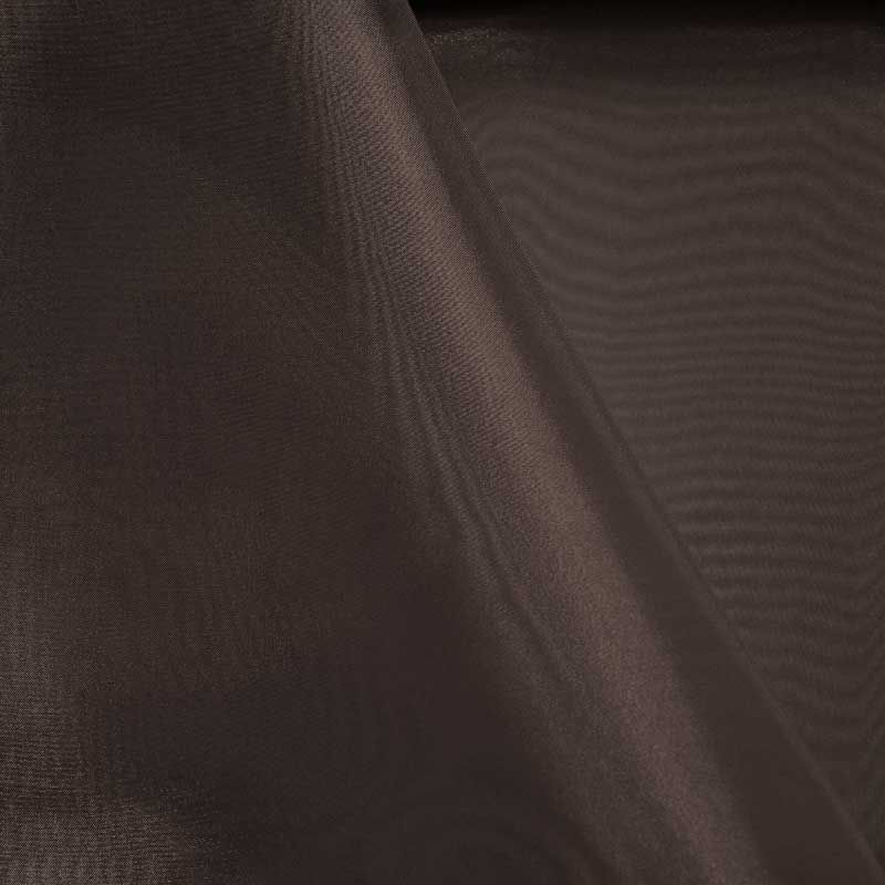 101 CRYSTAL / CHOCOLATE 383 / 100% Polyester Crystal Organdy