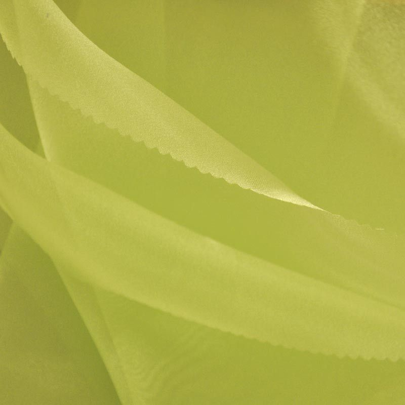 101 CRYSTAL / YELLOW 688 / 100% Polyester Crystal Organdy