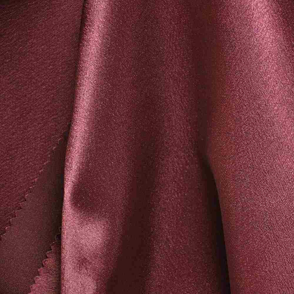 BACK CREPE / BURGUNDY 232 / 100% Polyester Back Crepe Satin