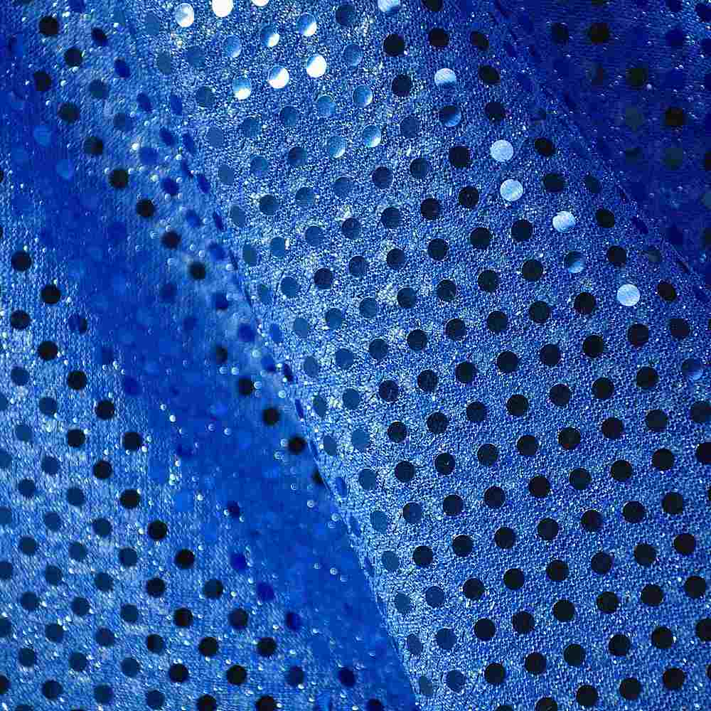 SEQUINS 2000 / ROYAL / American Knit With 3mm Trans [75% NYLON 25%POLY]