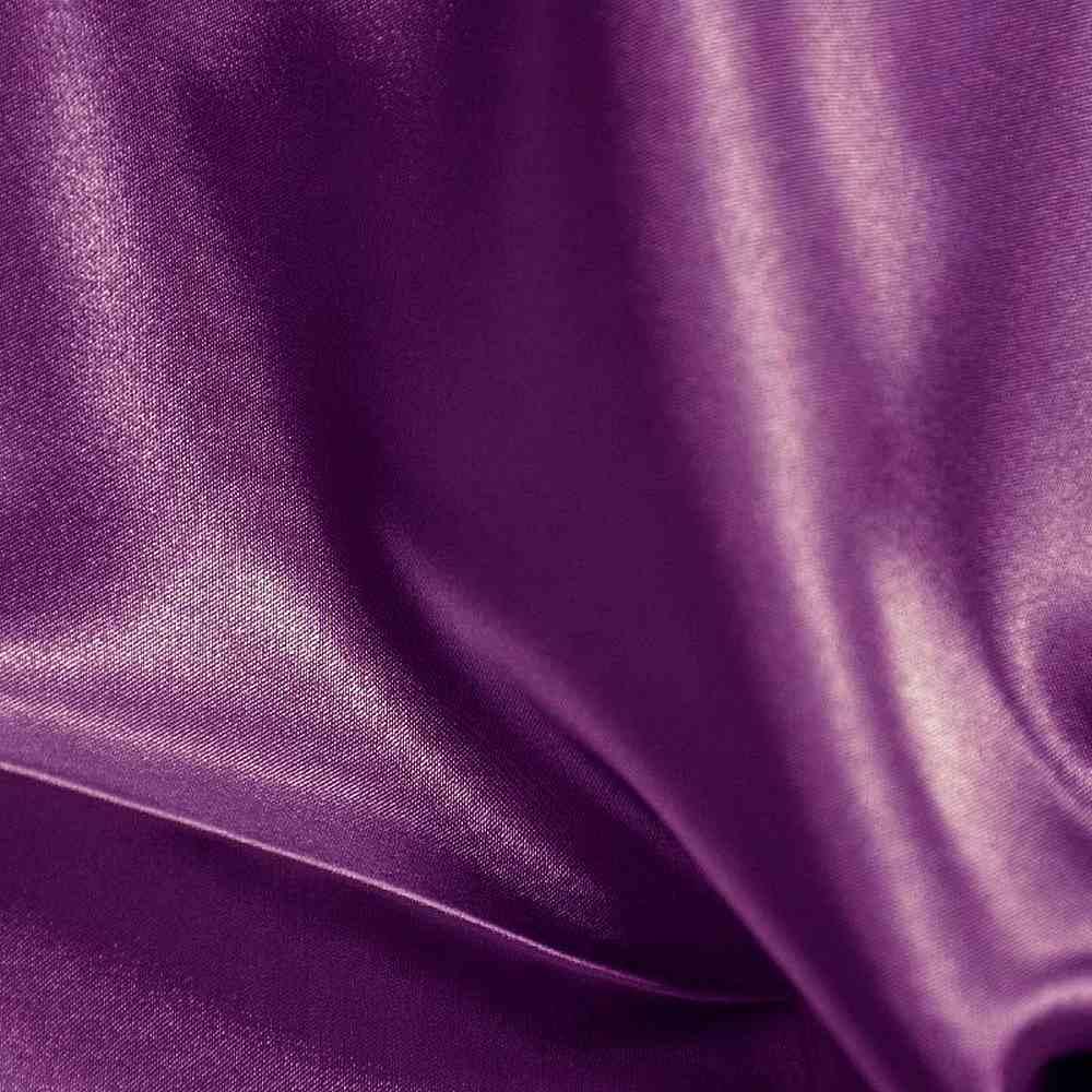 CRM / PLUM 555 / 100% Polyester Charmeuse