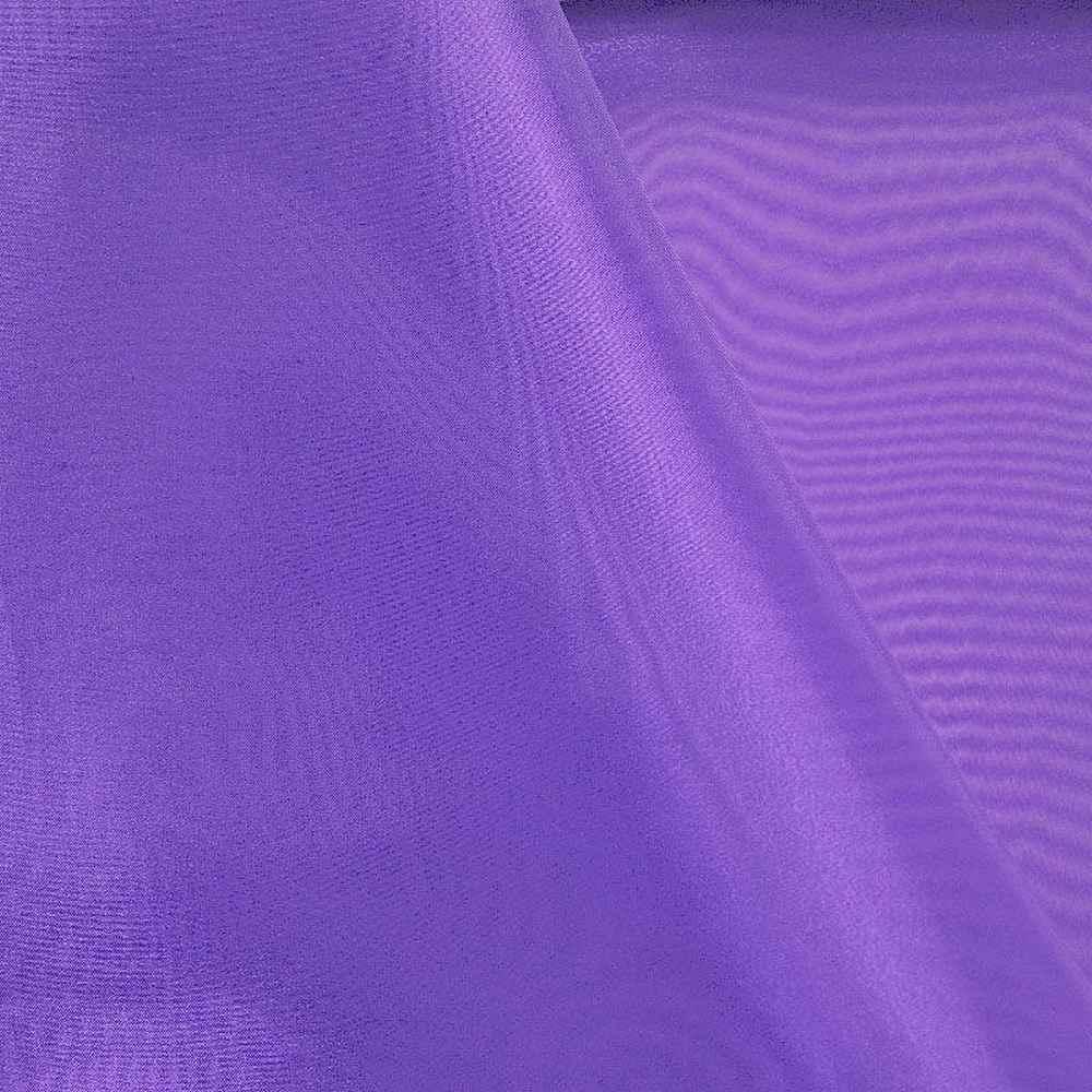 101 CRYSTAL / PURPLE 658 / 100% Polyester Crystal Organdy