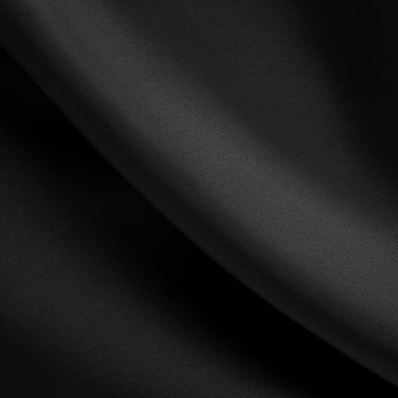 SILKY DULLSATIN / BLACK 115 / 100% POLYESTER SILKY DULL SATIN CHIFFON