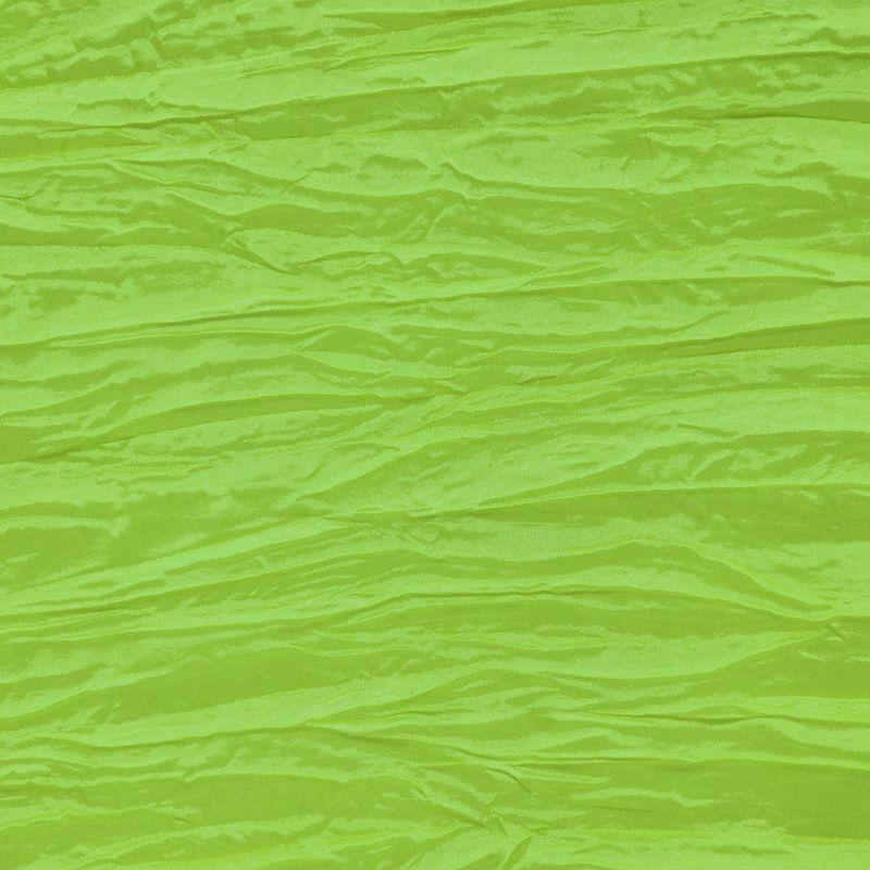 CREASED/TAF / LIME 046 / 100% Polyester Creased Taffeta