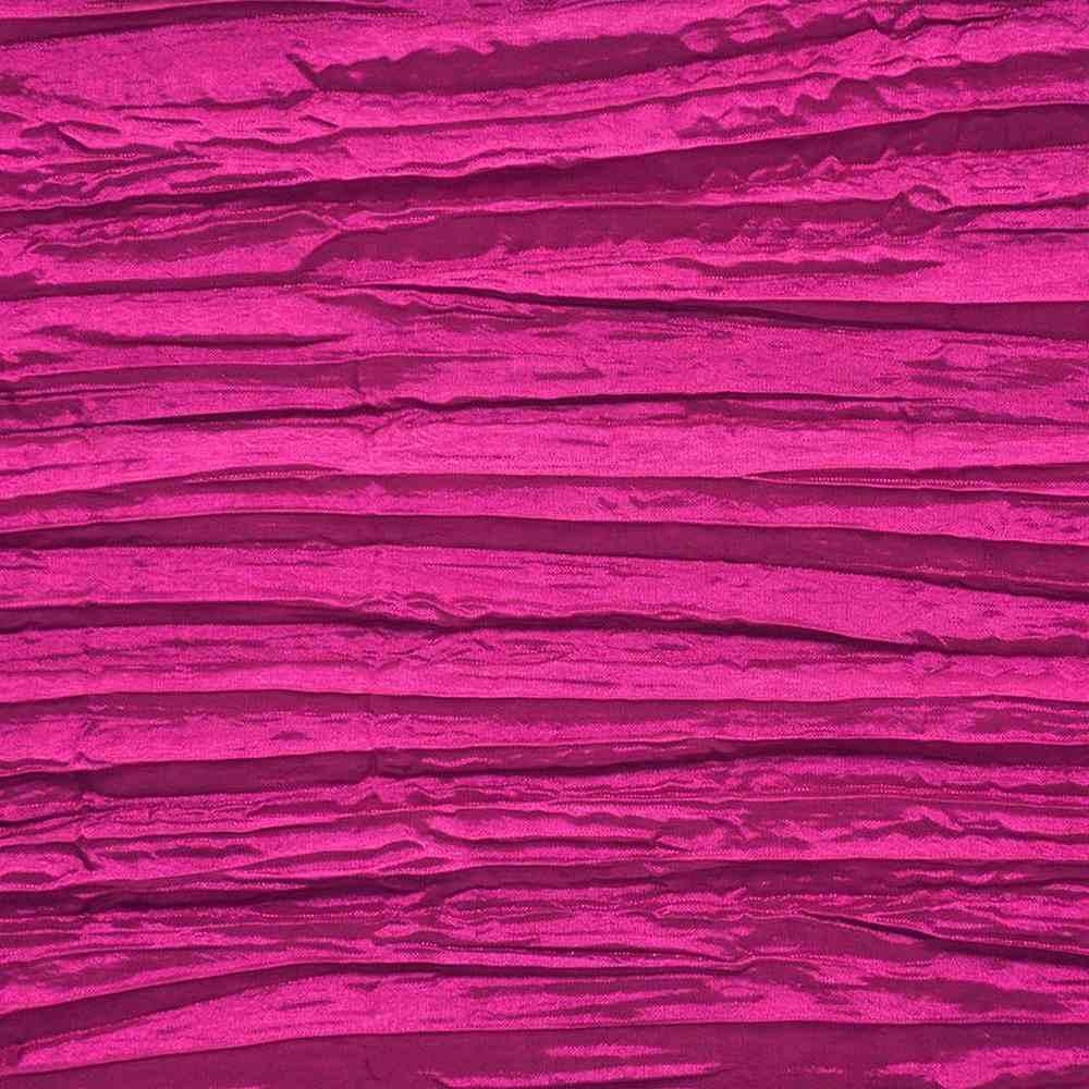 CREASED/TAF / FUCHSIA 044 / 100% Polyester Creased Taffeta