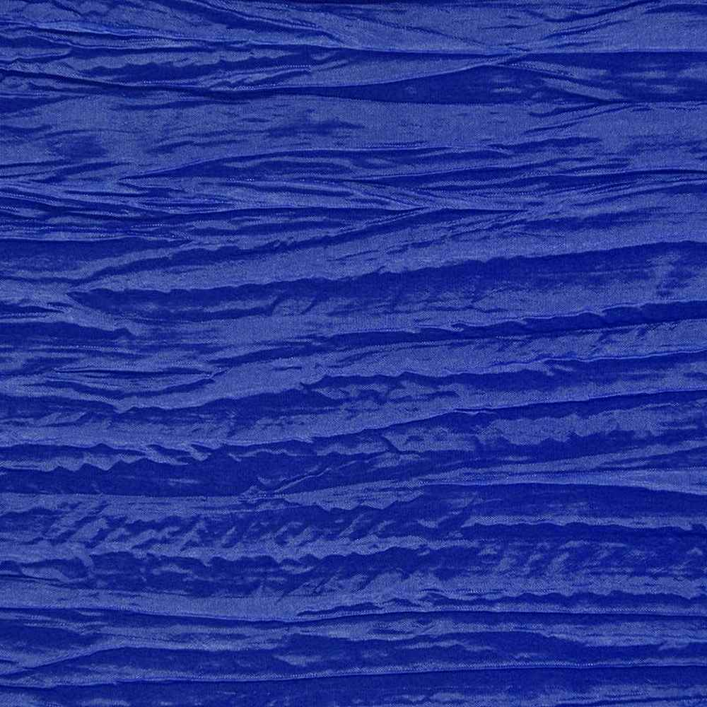 CREASED/TAF / ROYAL 047 / 100% Polyester Creased Taffeta