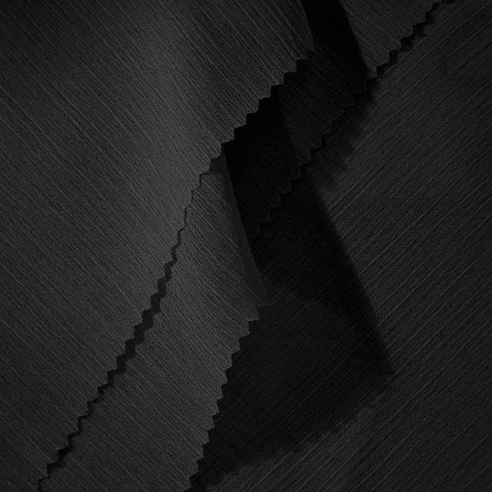 YORYU 060 / BLACK 300 / 100% Polyester Chiffon Yoryu