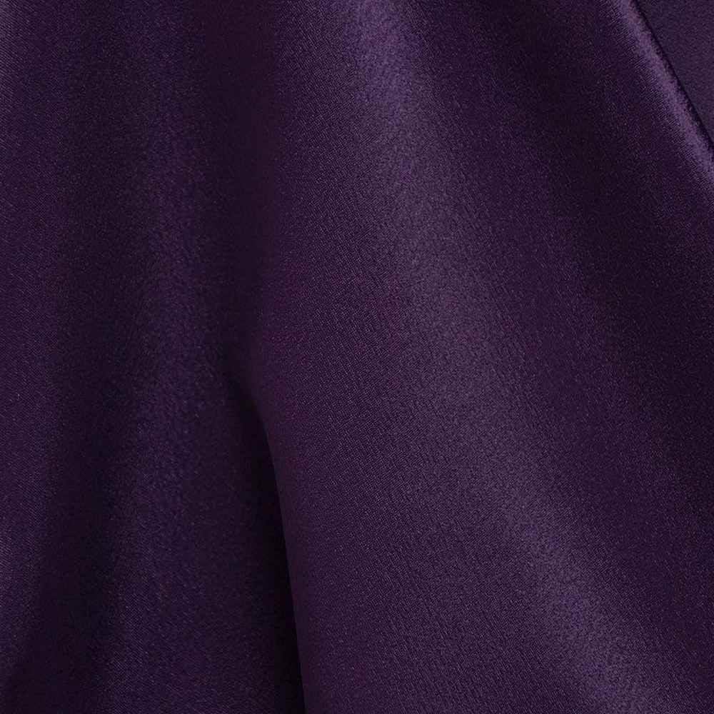 BACK CREPE / RAISIN 356 / 100% Polyester Back Crepe Satin