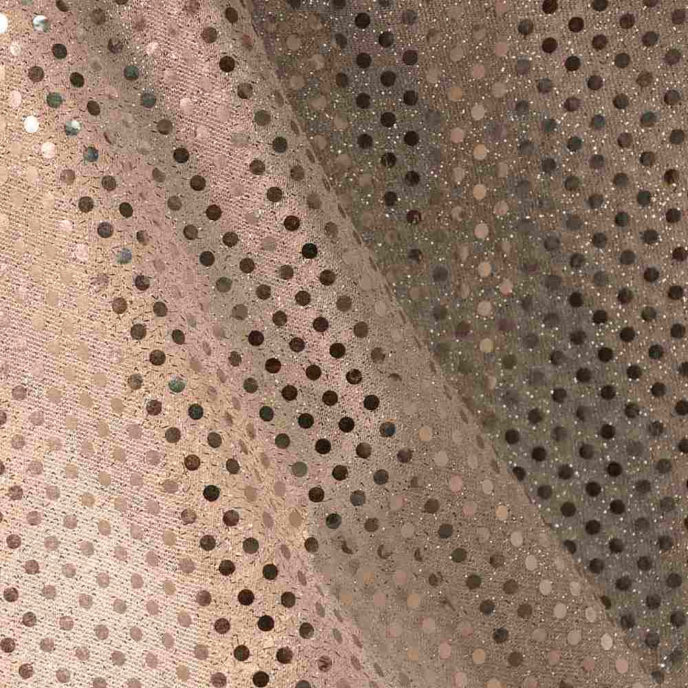 SEQUINS 2000 / GOLD/GOLD / 100% Nylon Knit With 3mm Polyester Trans