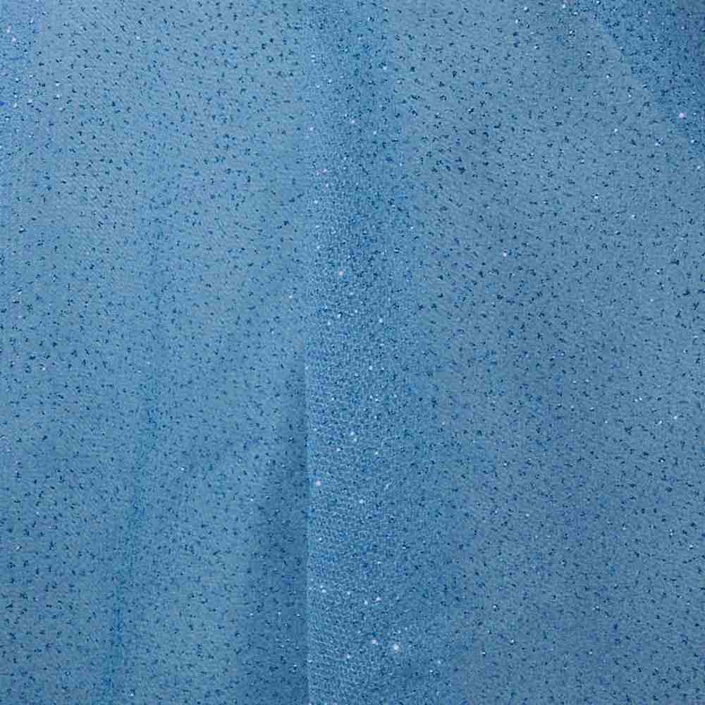 GLITTER MESH / TEAL 20 / 100% Polyester Mesh Glitter
