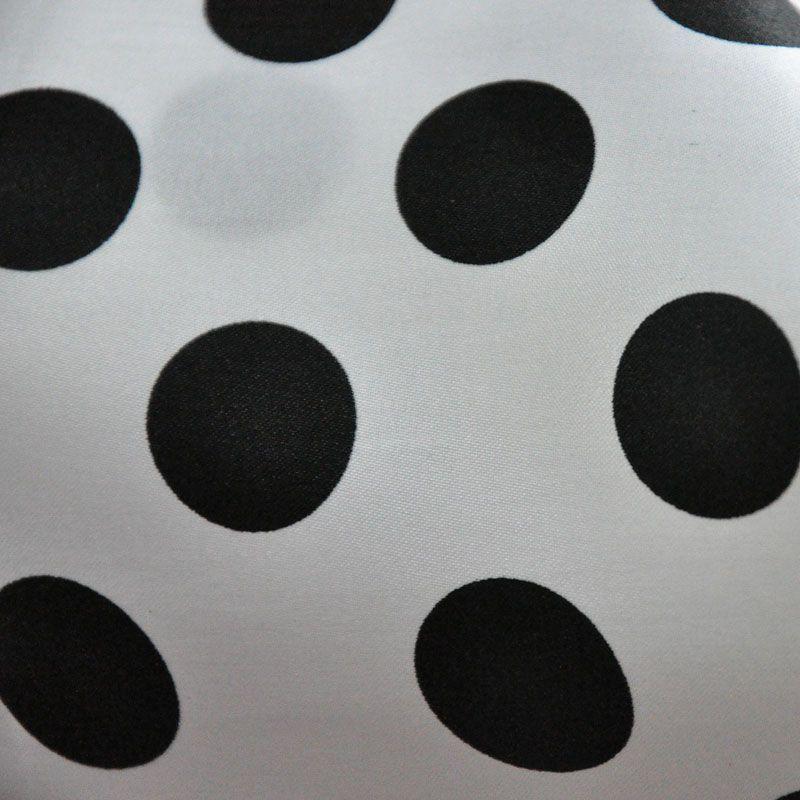 PK/CHA MED / WHITE / BLACK / 100% Polyester Charmeuse Polka Dot Med Print