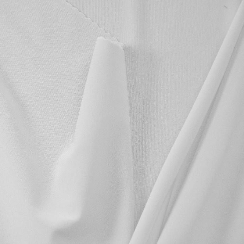 CDC / WHITE 1100 / 100% Polyester Crepe Du Chine P/D