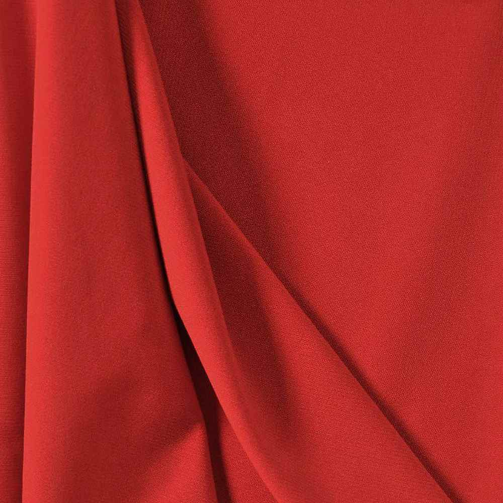<h2>CDC</h2> / RED 1190                 / 100% POLYSTER CREPE DU CHINE P/D