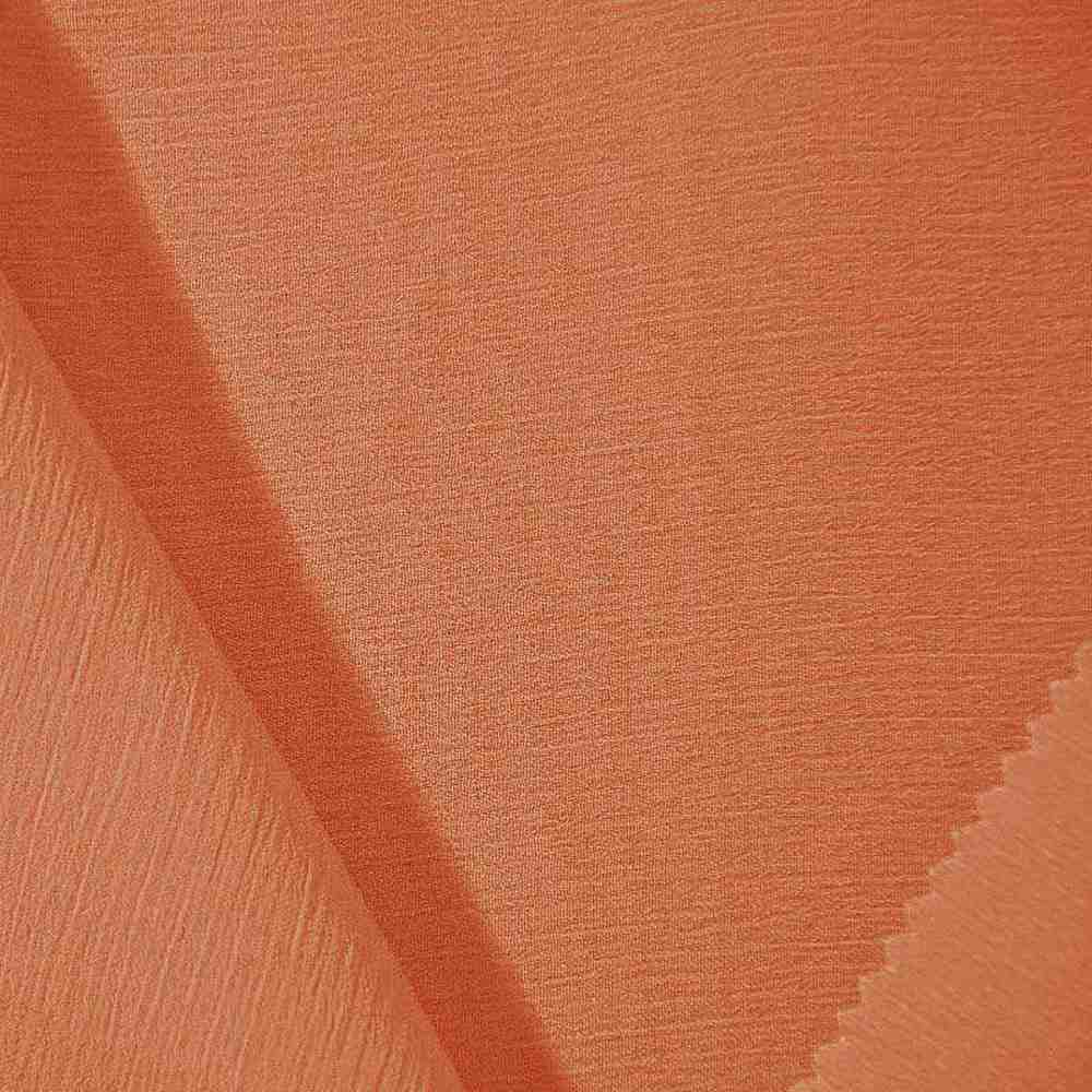 YORYU 060 / ORANGE 405 / 100% Polyester Chiffon Yoryu