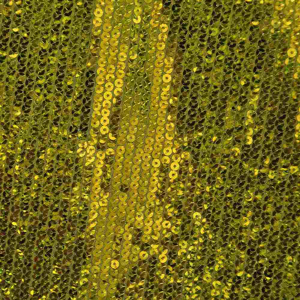 SEQUINS EMB / GOLD / POLY MESH WITH TRANSPANGLE 5MM