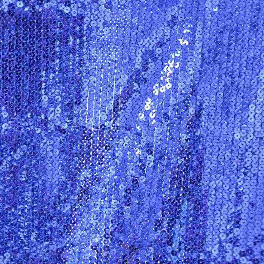 SEQUINS EMB / ROYAL / POLY MESH WITH TRANSPANGLE 5MM