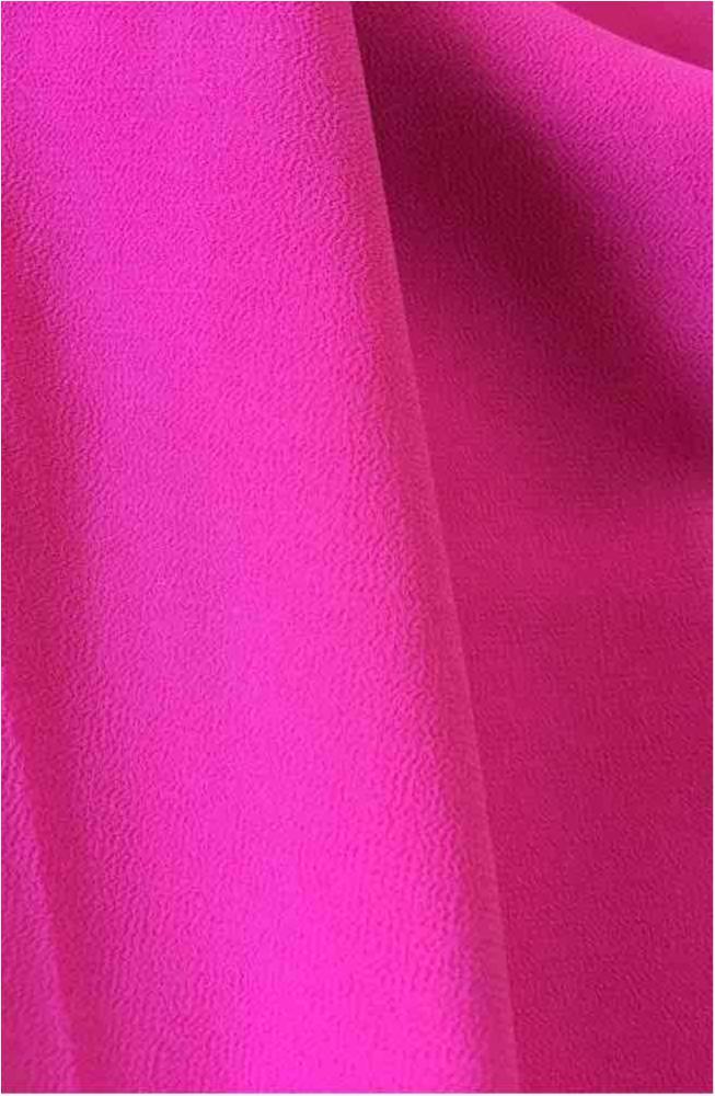 CREPE CHIFFON / HOT PINK 1195 / 100% Polyester Crepe Chiffon