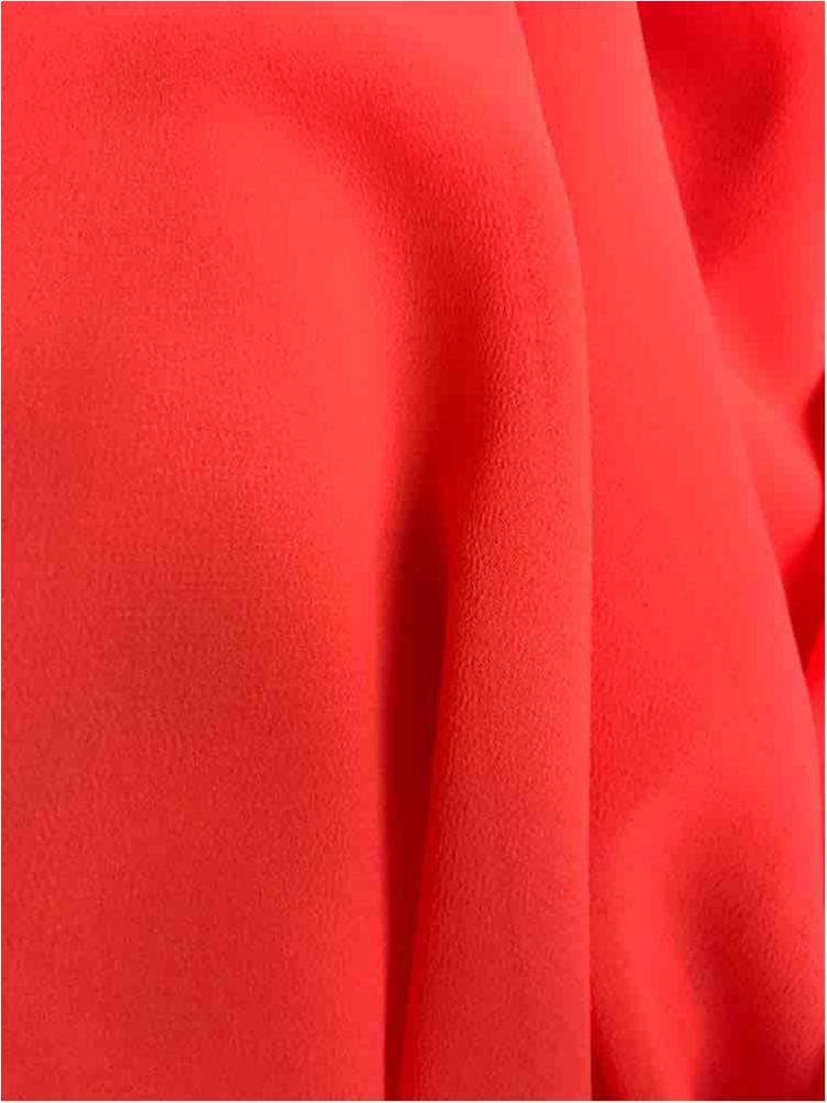 CREPE CHIFFON / NEON ORANGE 1775 / 100% Polyester Crepe Chiffon