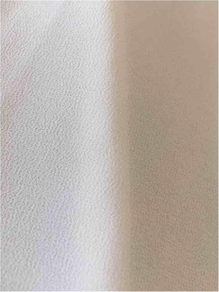 CREPE CHIFFON / OFF WHITE 1105 / 100% Polyester Crepe Chiffon