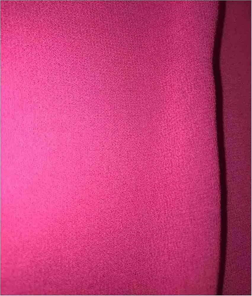 CREPE CHIFFON / FUSCHIA 520 / 100% Polyester Crepe Chiffon