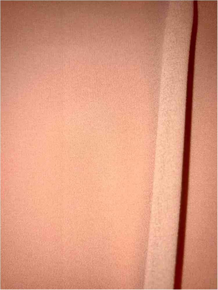 <h2>CREPE CHIFFON</h2> / PEACH LUSH 1177                 / 100% Polyester Crepe Chiffon